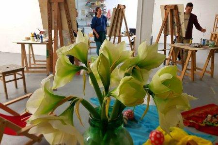Aquarellkurs mit Cornelia einhacken - im Atelier