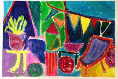 Lust auf Farbe - Malen mit Cornelia Eichacker - Bild von Claudia Stuehmeier