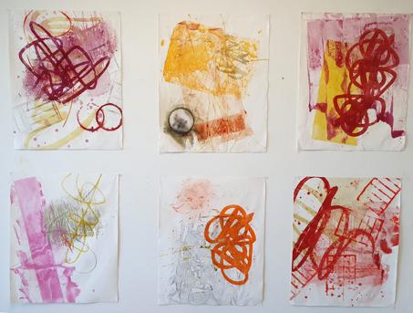 Arbeiten von Jess Walter im Atelier