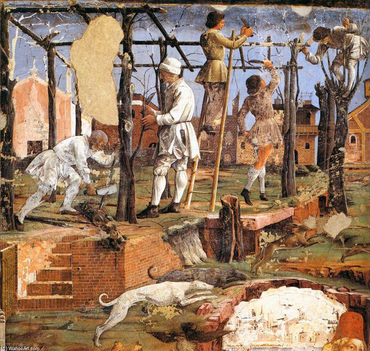 Monatsbild März aus dem Palazzo Schafanoia