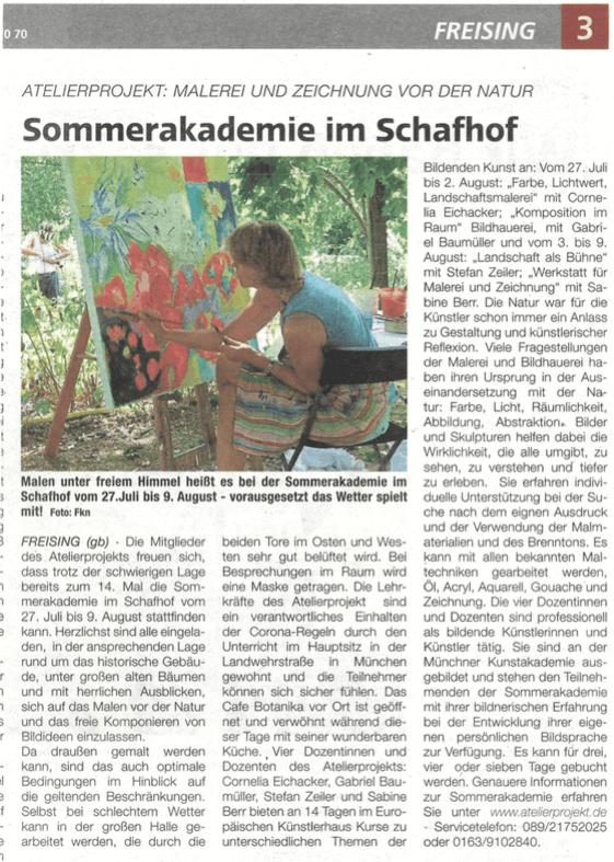 Sommerakademie Schafhof Freising 2020