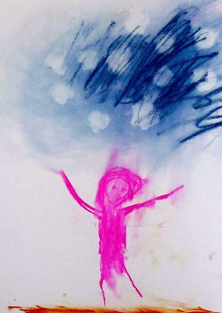 Ein Kind springt - Marta